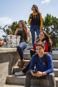 Group of Teens on Steps